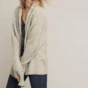 Angel Of The North Small Open Front Sweater Green